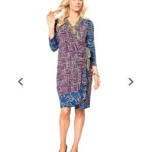 "BCBG MAXAZRIA Maternity wrap dress ""Adele"" XSmall"